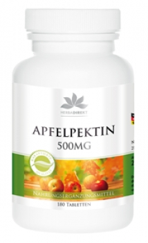 Apfelpektin 500mg mit Calcium, vegetarisch 180 Tabletten