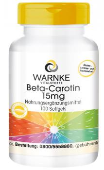 Beta-Carotin 15mg - 25.000 I.E.  (100 Softgels)